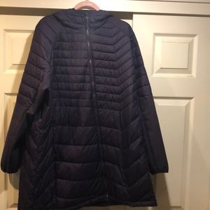 Purple Columbia thermal coil jacket in size 3x.